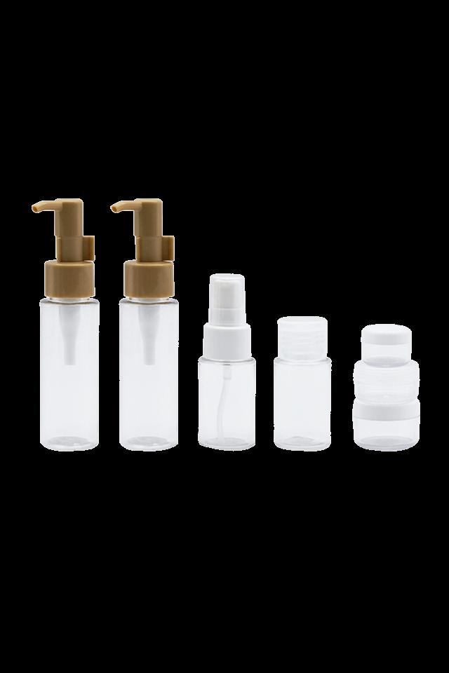set de viaje Botella de plástico PET transparente portátil de 60 ml y 35 ml