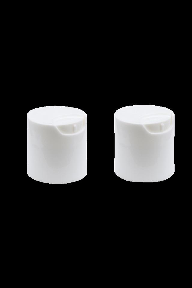 Tapa de prensa de plástico de aluminio 24/410 Tapa superior de disco dorado